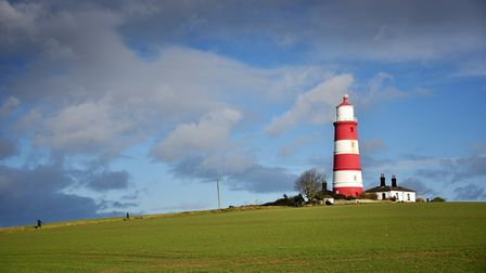 Happisburgh, nominated as Village of the Year. Happisburgh Lighthouse.Picture: ANTONY KELLY