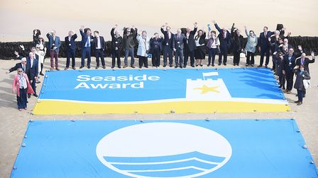 Representatives from accross the country that have achieved the blue flag status for 2018, on the be