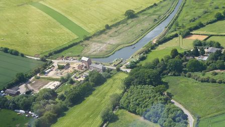 This aerial shot shows the canal around Ebridge Mill pond. Picture: Clive and Shirley James.
