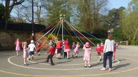 Mr Neenan will be attending the May Pole event May 1. Picture: Aylsham, St Michael's CofE VA Nursery