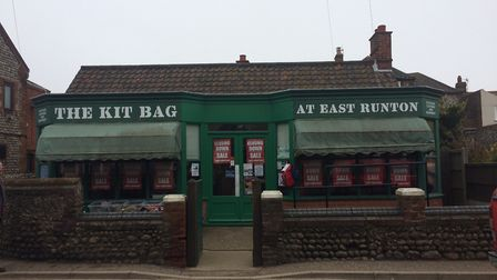 Closing down sale at the Kit Bag in East Runton. Picture: David Bale