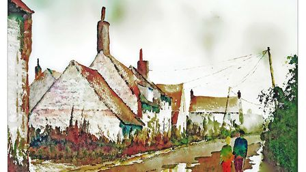 Cley Cottages by Mike Waters. Pictures: Supplied by Thorpe Market church