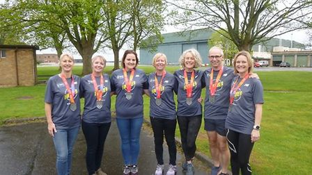 L-R: Ruth Gainsford, Annette Yeomanson, Sarah Letzer, Vee Clements, Vicky Tovell, David Platten and