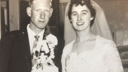 Stanley and Wendy Osler are celebrating their Diamond Wedding anniversary. This picture shows them o