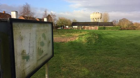 Millennium Field in Knapton. The field has been earmarked for 14 new homes. Picture: Stuart Anderson