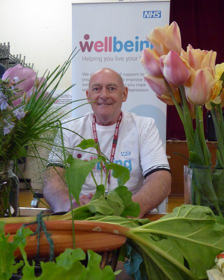 Steve Morris with allotment produce. Picture: COURTESY OF RICHARD BATSON