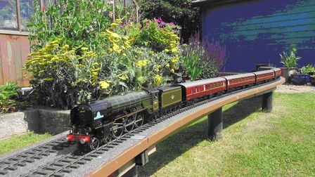 The model railway which will feature in one of the gardens. Picture: Northrepps Garden Trail