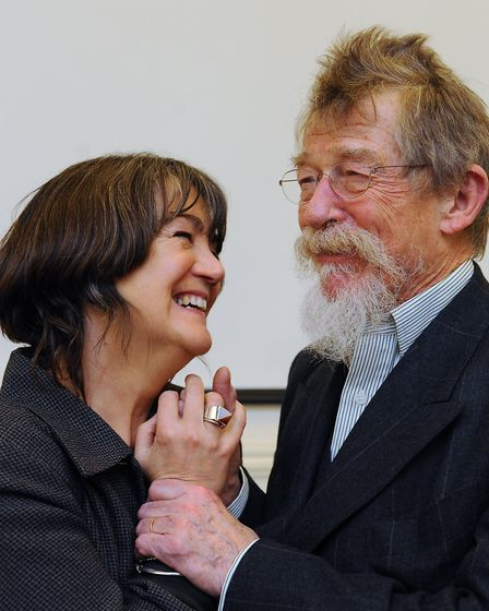 Sir John Hurt at the 170th anniversary celebrations of the Norwich University of the Arts, with his