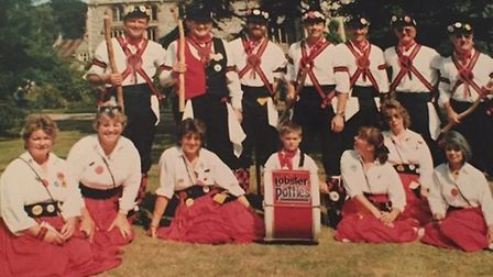 The Lobster Potties dance side in the 1980s. Photo: HILLARY RAYMENT