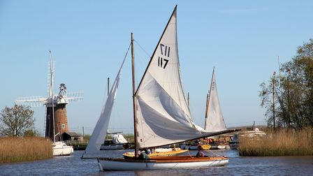 The Horsey Mere Regatta little more wind would have made for a better sail. Photo: David Baker