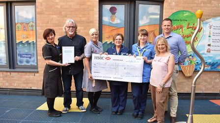 A cheque for £10,000 was given to the Jenny Lind Children's Hospital by the organisers of this year'