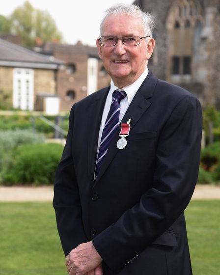 Giles Margarson who has been awarded the British Empire Medal for services to the community in Aylsh