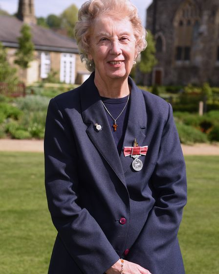 Janet Lake who has been awarded the British Empire Medal for services to the community in Brancaster