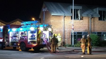 A fire broke out at a block of flats in Sheringham last night. PIcture: Sarah Thomas