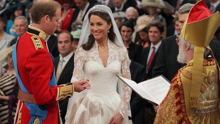 William and Catherine at their wedding in 2011. Dominic Lipinski/PA Wire