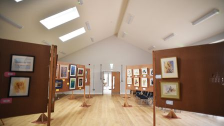 The art exhibition at Trimingham Village Hall. Picture: ANTONY KELLY