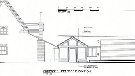 The side elevation of the property. Plans: The Ingham Swan