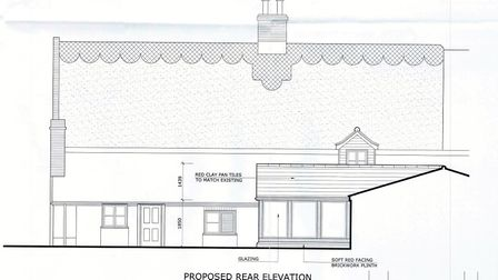 The rear elevation of the property. Plans: The Ingham Swan