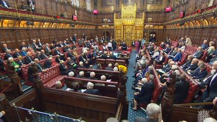 Peers in the House of Lords, London.Photo: PA