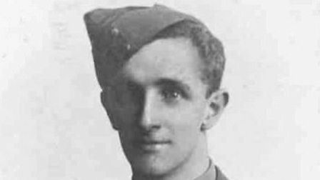 First World War victim Bert James will be remembered at Norfolk church. Pictures: supplied by Bob Wi