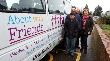 Two charity minibuses have been given a makeover by Structure-flex. Pictures: supplied by Allison Th