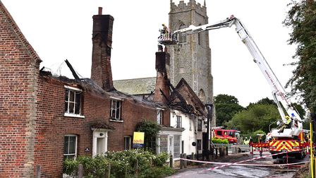 Town House, on the left of the picture, following the fire. Picture: Nick Butcher