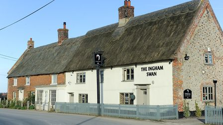 Town House and the Ingham Swan before the fire.
