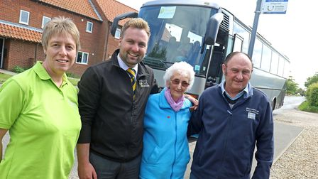 The Catfield Shopper Bus is one of the groups to benefit from the grants. From left are, Christine C