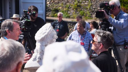 Expert Eric Knowles during filming of the Antiques Roadshow at Cromer. Picture: DENISE BRADLEY