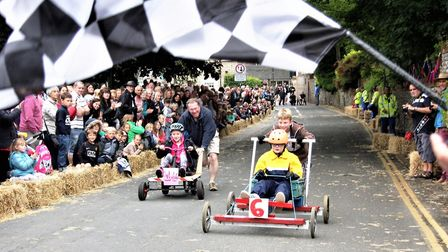 The Mundesley Soapbox Derby. Picture: Maurice Gray