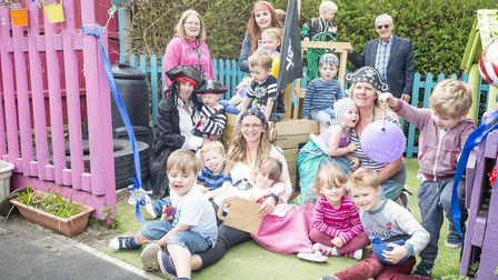 The children dressed up as pirates and princesses. Picture: PJ Photography