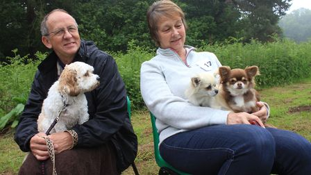 Philip and Margaret White, of Southrepps, with Rosie the cavachon and Chihuahuas Roxy and LilyPhoto:
