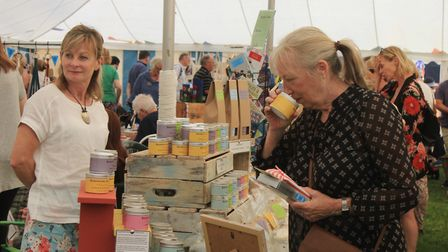 Local crafts and produce on sale at North Norfolk Country FairPhoto: KAREN BETHELL