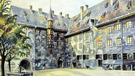 Painting by Adolf Hitler painted in Munich just before World War One, 1914