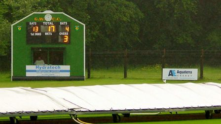 A picture that sums up a largely frustrating afternoon for cricketers in Norfolk at the weekend, wit