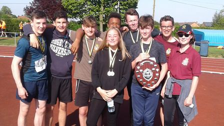 Success for Cromer air cadets at the Norfolk/Suffolk wing athletics championships. Pictures: Tony Wa