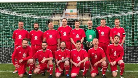Sheringham Veterans, who have won the Norfolk Leathes Prior league division 2 cupPhoto: Sheringham F