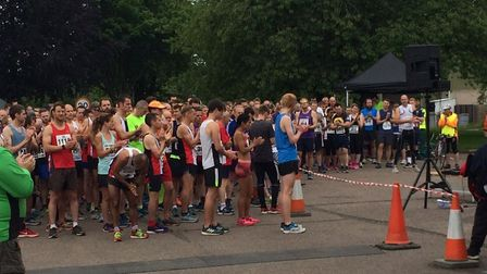 A minute's round of applause was held ahead of the race at the former RAF Coltishall base. Pictures: