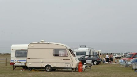 Archived picture of a Traveller Group pitched up on Runton Road in Cromer. The lease of a Traveller