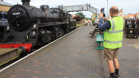 A visitor capturing the action at the North Norfolk Railway's mixed traction galaPhoto: KAREN BETHEL