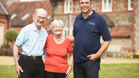 Oliver McSweeney (90), here pictured with his wife Vera (89), has returned to Manor Farm in Lower Bo