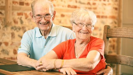 Oliver McSweeney (90), here pictured with his wife Vera (89), has returned to Manor Farm Holiday Bar