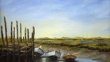 Morston Quay, by Eleanor Alison, whose work will be on show at The Old Workshop Gallery, Corpusty, a