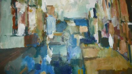 Urban Terrace, by John Midgley, whose work will be on show at The Old Workshop Gallery, Corpusty, as