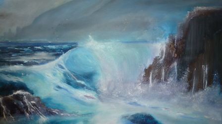 Atlantic Wave, by Harry Baker, whose work will be on show at The Old Workshop Gallery, Corpusty, as