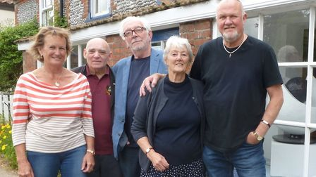 Artists (from left): Eleanor Alison, Clive Brookes, John Midgley, Janet Harrison and Harry Baker. To
