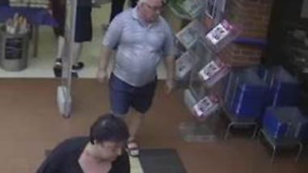 Police have issued CCTV images of two people they would like to speak to after a theft in Hoveton. P