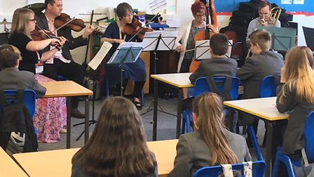 Musicians from Norfolk Music Hub perform at Cromer Academy as part of Live Music Week. Photo: Inspir