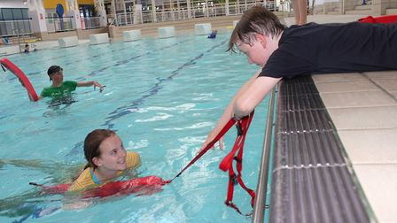 Members of Splash rookie lifeguard group in action. The Weybourne Road centre will be running a seri
