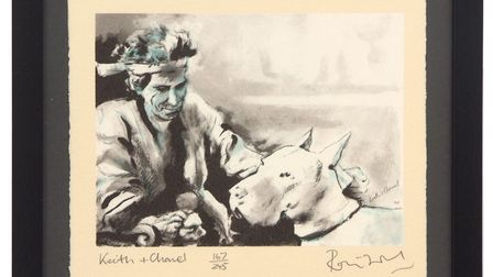 Lot 272 –, signed print 'Keith and Chanel', estimate £200-£300. Pictures: Keys Fine Art Auctioneers.